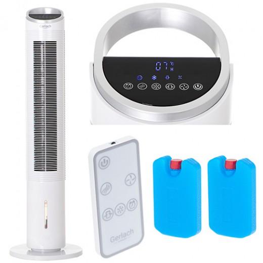 Racitor de aer portabil multifunctional cu functie de umidificare, purificare si racire  GL 7927, putere 600 W, cu telecomanda, 3 moduri de ventilatie - HotPick
