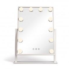 Oglinda pentru make-up cu iluminare 12 LED-uri Livoo DOS182, 36 x 47 cm