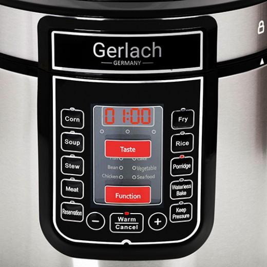 Oala electrica sub presiune Gerlach GL 6412, Capacitate 6 L, 1000 W - HotPick