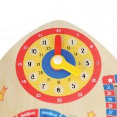 Jucarie educativa din lemn - Calendar Spatial: Calendar, Ceas, Anotimpuri, Lunile anului Svoora