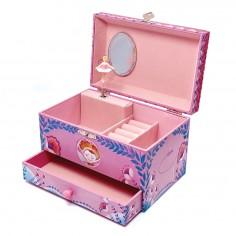 Cutiuta muzicala pentru bijuterii cu suport inele si sertar 'Chloe'  Svoora