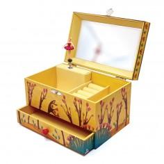 Cutiuta muzicala pentru bijuterii cu suport inele si sertar 'Forest Dance' Svoora
