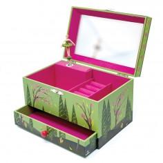 Cutiuta muzicala pentru bijuterii cu suport inele si sertar 'Seasons' Svoora