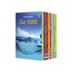 Beginners Boxset Our World Usborne -  Set 10 carti in limba engleza