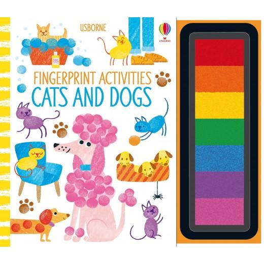 Fingerprint Activities Cats and Dogs Usborne - HotPick