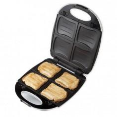 Aparat de sandwich 2 in 1 DO9046C cu placi interschimbabile, pentru pregatire sandwich sau waffe, 120 w