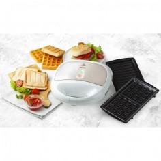 Aparat de sandwich 3 in 1 DO9122C cu placi interschimbabile, pentru pregatire sandwich, grill sau waffe, 750 w