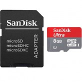 Card SanDisk Ultra microSDHC 8GB SD Adapt. Cl.10 - HotPick