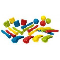 Forme si unelte pentru modelat plastilina 24 bucati