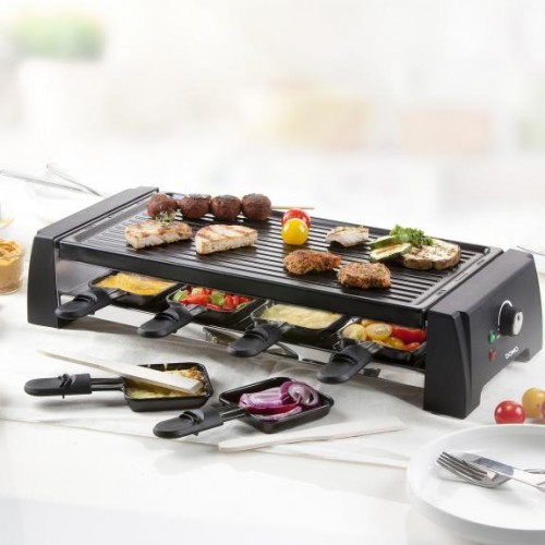 Gratar electric raclette DO9189G, 1200 W, 8 persoane