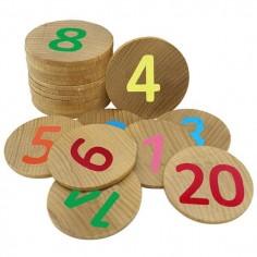 Joc memorie cu numere de la 1-20 piese lemn