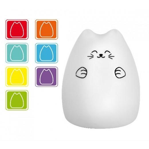 Lampa de veghe pisicuta LED 7 culori Innoliving INN-308 - HotPick