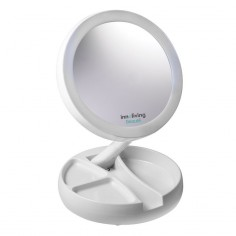 Oglinda cosmetica pliabila, iluminare Led INN-805