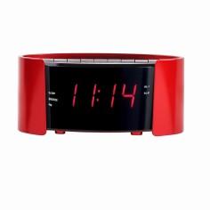 Radio cu ceas desteptator Clip Sonic AR306R, rosu