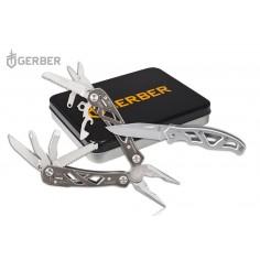 Set Multi-tool Gerber Suspension  si Briceag Gerber Paraframe Mini Fine Edge
