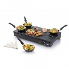 Set gourmet 3 in1 wok, clatite si gratar DO8712W, 1000W