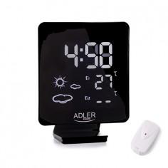 Statie meteo AD 1176, termometru interior-exterior, ceas, alarma