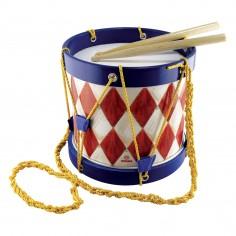 Toba Multicolora Copii - Big Marching Drum, 2 Bete Lemn