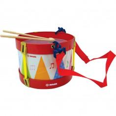 Toba Multicolora Copii - Tin Drum, 2 Bete Lemn