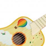 Chitara Din Lemn Pentru Copii Frumos Pictata Air Balloon - HotPick