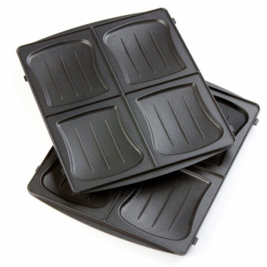 Aparat de sandwich 2 in 1 DO9046C cu placi interschimbabile, pentru pregatire sandwich sau waffe, 120 w - HotPick