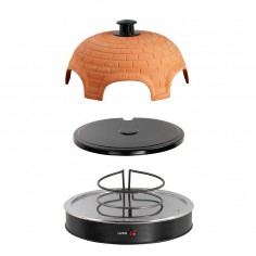 Mini-cuptor pentru pizza DOC226, 1200 W, Pizza Party