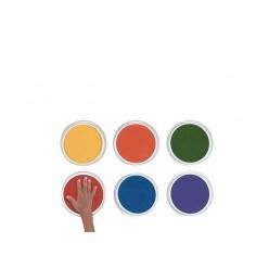 Set 6 culori gigantice tip pad pentru pictura cu palmele copii