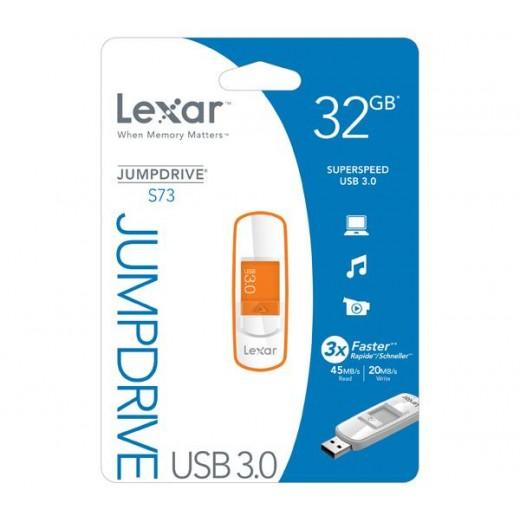 Stick Lexar JumpDrive USB 3.0 32GB S73 Portocaliu - HotPick