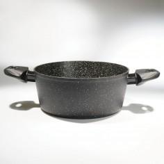 Oala invelis de marmura cu capac TS-1294, 24 cm, 4,3 L